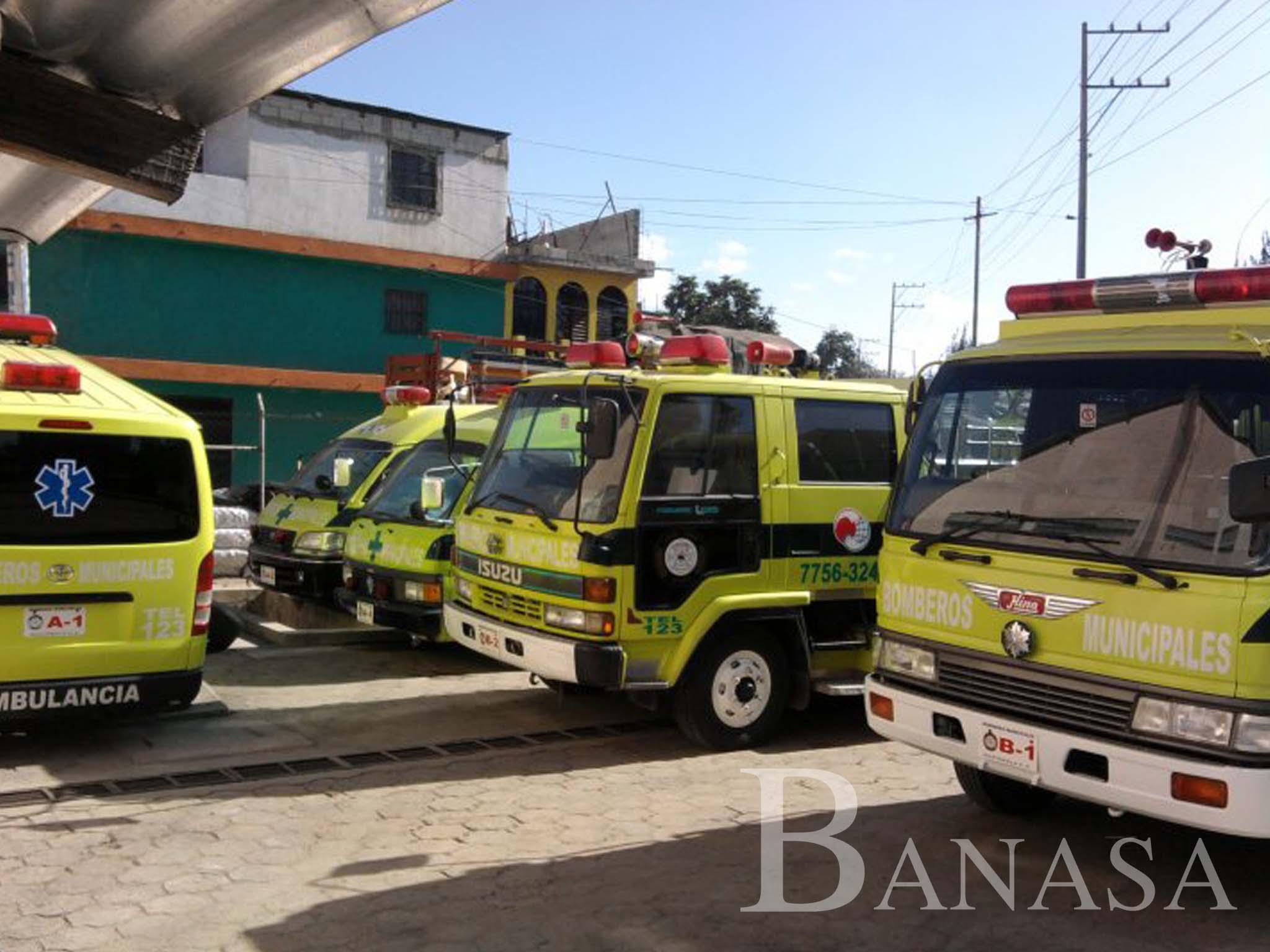 Banasa ayudará dona combustible durante 12 meses, a los bomberos municipales de Coatepeque